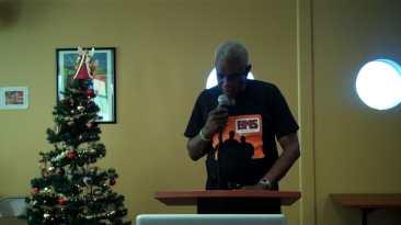Joe Anderson presenting